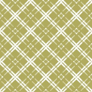 White on Yellow Green Plaid