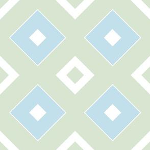 Geometric green&blue_025a