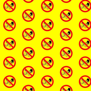 No Ball Lickers  on Yellow
