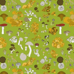 Fungi on green