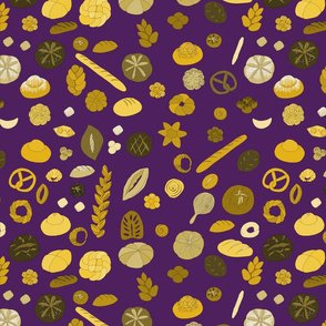 Boulangerie on purple