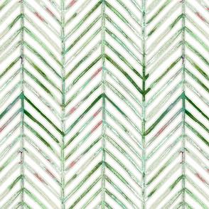 pine chevron - greens