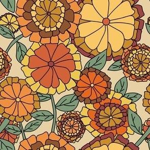 Groovy Marigold Floral