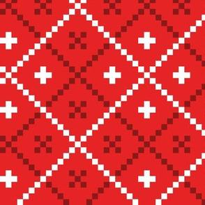 Christmas nordic folk pattern