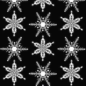 Mid Century Snowflake black and white