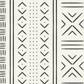 onyx on bone mud cloth - dots - mudcloth tribal - LAD19