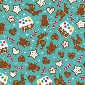 gingerbread fun teal