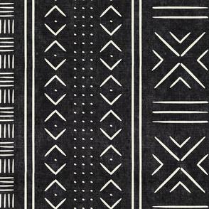 onyx mud cloth - dots - mudcloth tribal - LAD19