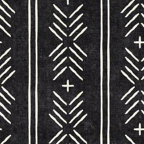 mud cloth arrow stripes - onyx - mudcloth tribal - LAD19