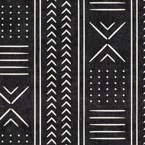 onyx mudcloth - arrow cross dot - mud cloth home decor tribal - LAD19