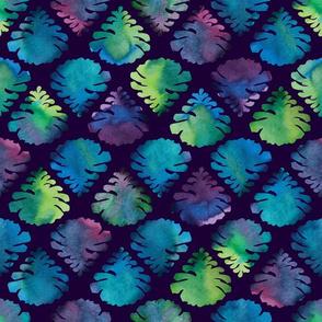 Winter Pine Cones on Dark Blue by ArtfulFreddy