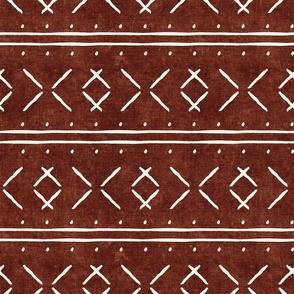 mud cloth stitch - rust - mudcloth tribal - LAD19