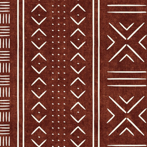rust mud cloth - dots - mudcloth tribal - LAD19