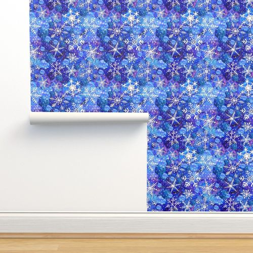 9352476 blue christmas snowflake blue white by magentarosedesigns