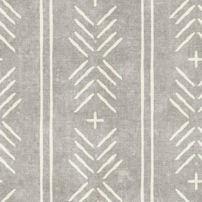 mud cloth arrow stripes - stone - mudcloth tribal - LAD19