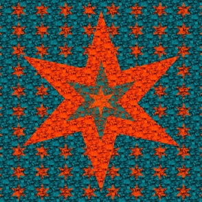 Cheater Quilt - Red Star