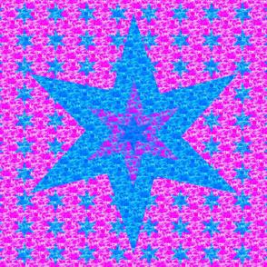 Cheater Quilt - Purple Star