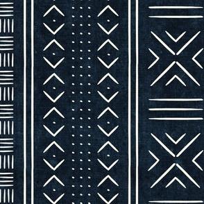 indigo mud cloth - dots - mudcloth tribal - LAD19
