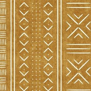 mustard mud cloth - dots - mudcloth tribal - LAD19