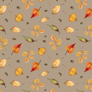 Orange Leaves (on brown)