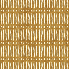 vertical dash mud cloth stripes - mustard - mud cloth inspired home decor wallpaper - LAD19
