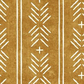 mud cloth arrow stripes - mustard - mudcloth tribal - LAD19