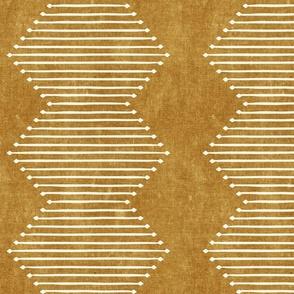 mud cloth - diamond - mustard - mud cloth inspired home decor wallpaper - LAD19