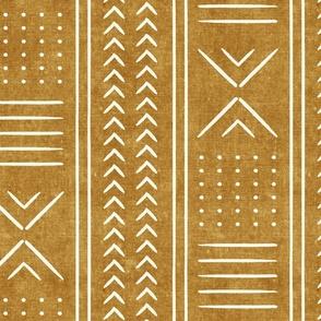 mustard mud cloth - arrow cross dot - mudcloth home decor tribal - LAD19