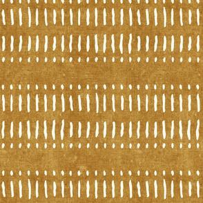 dash dot stripes on mustard - mud cloth inspired home decor wallpaper - LAD19