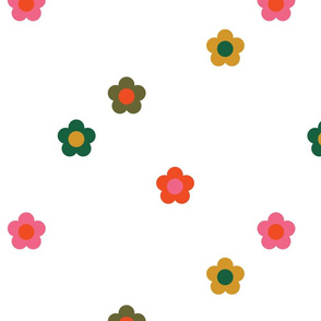 Retro Geo Flowers Swaddle