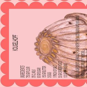 KOUGELHOPF ALSACIENNE TEA TOWEL-ed