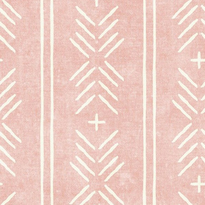 mud cloth arrow stripes - pink - mudcloth tribal - LAD19