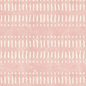 dash dot stripes on pink - mud cloth inspired home decor wallpaper - LAD19
