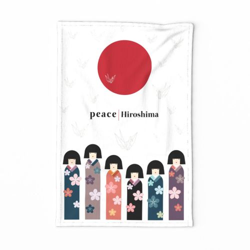 Hometown Tea Towel-Hiroshima