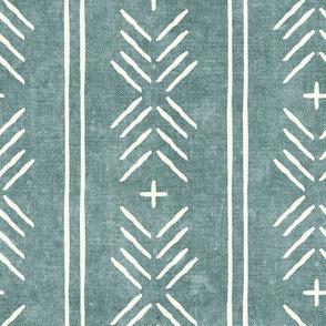 mud cloth arrow stripes - dusty blue - mudcloth tribal - LAD19