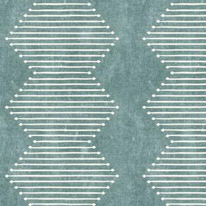 mud cloth - diamond - dusty blue - mud cloth inspired home decor wallpaper - LAD19