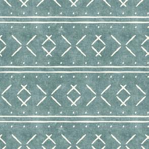 mud cloth stitch - dusty blue - mudcloth tribal - LAD19