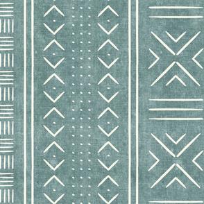 dusty blue mud cloth - dots - mudcloth tribal - LAD19