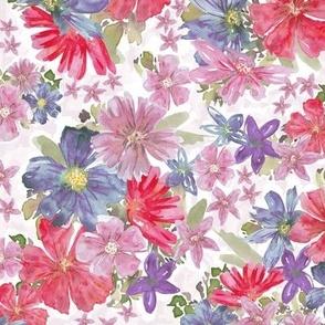 Shimmering colorful sprinkles pattern aligned on pink background