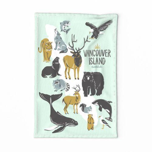 Vancouver Island Tea Towel