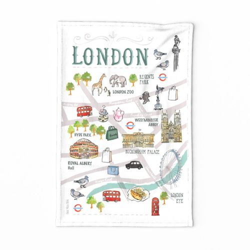 My LONDON tea towel