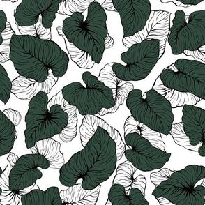 Hawaiian Tropical Palm Leaves