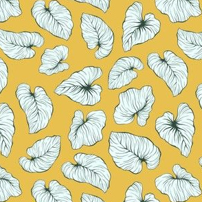 Yellow Exotic Leaves