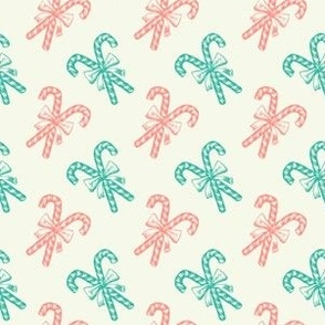 Vintage Christmas Pastel Colored Sweets
