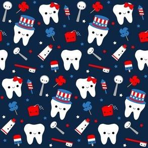 Patriotic Teeth - Blue