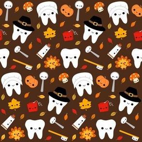 Happy Thanksgiving Teeth - Brown
