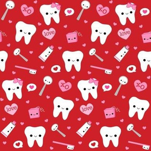 Happy Valentine's Day Teeth - Red