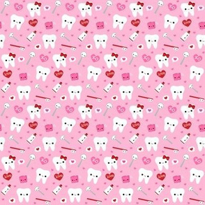 SMALL Happy Valentine's Day Teeth - Pink