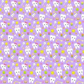 SMALL Happy Easter Teeth - Lavender