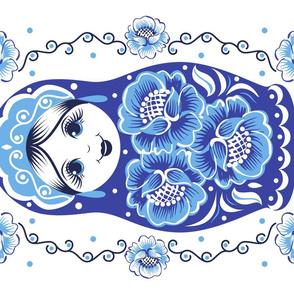 Matryoshka  tea towel